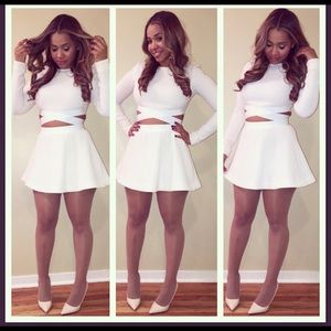 Elizabeth and James 2 piece cropped top and skirt
